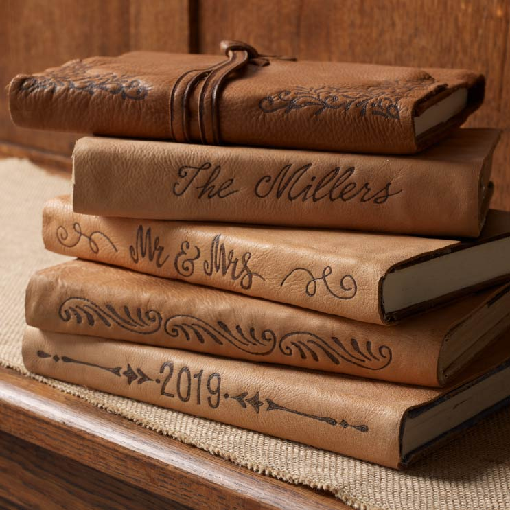 Leather Branded Books