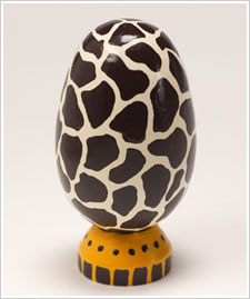 Giraffe Wood Egg