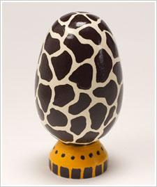 Giraffe Wood Egg