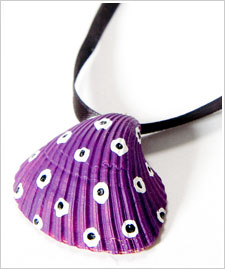Polka Dotted Seashell Necklace