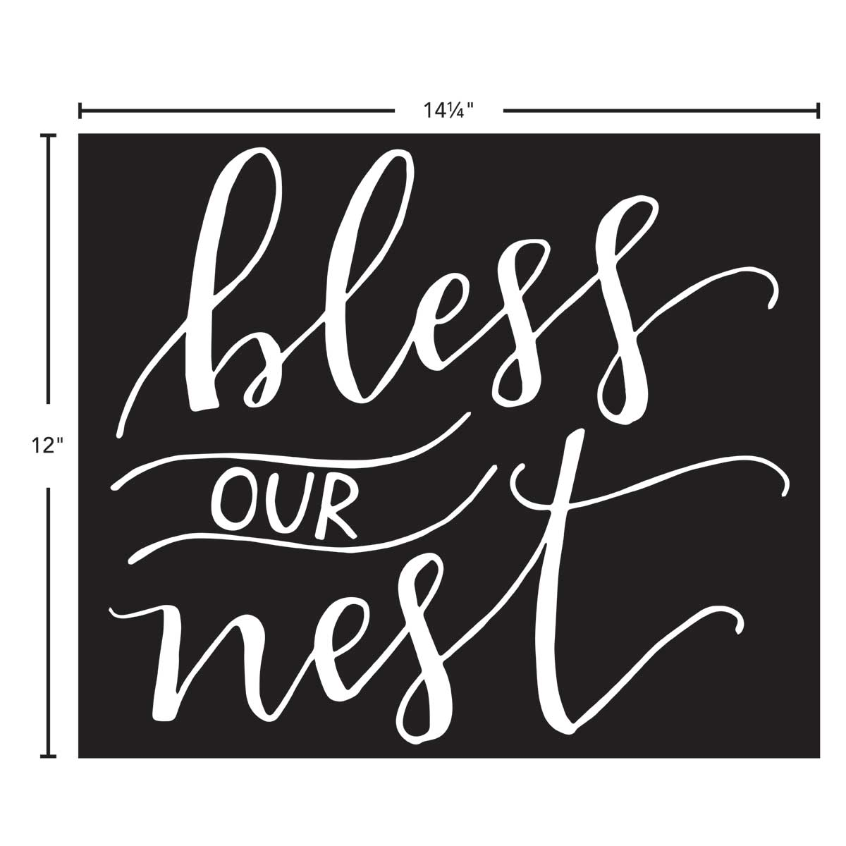 FolkArt ® Painting Stencils - Sign Making - Bless Our Nest