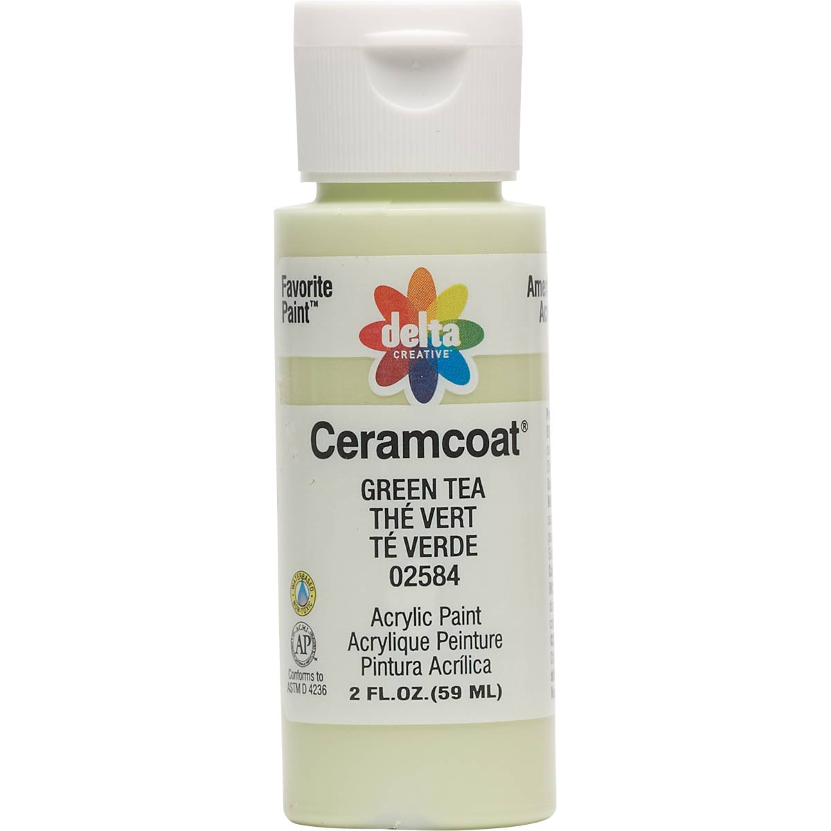 Delta Ceramcoat ® Acrylic Paint - Green Tea, 2 oz. - 025840202W