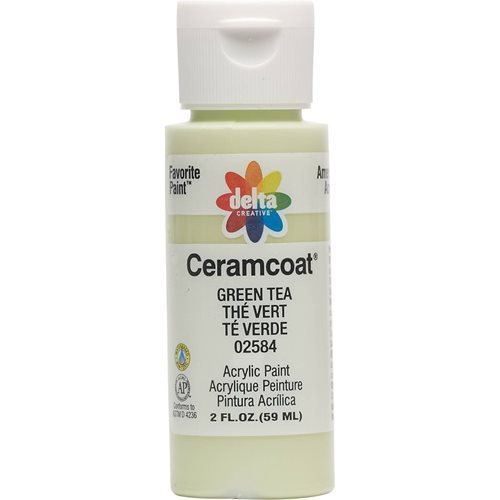 Delta Ceramcoat ® Acrylic Paint - Green Tea, 2 oz. - 025840202W