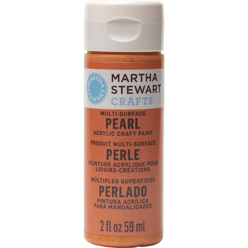 Martha Stewart ® Multi-Surface Pearl Acrylic Craft Paint - Tiger Lily, 2 oz. - 32112CA