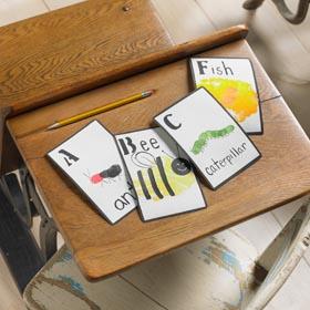 Handprint Painting Idea - Flashcards