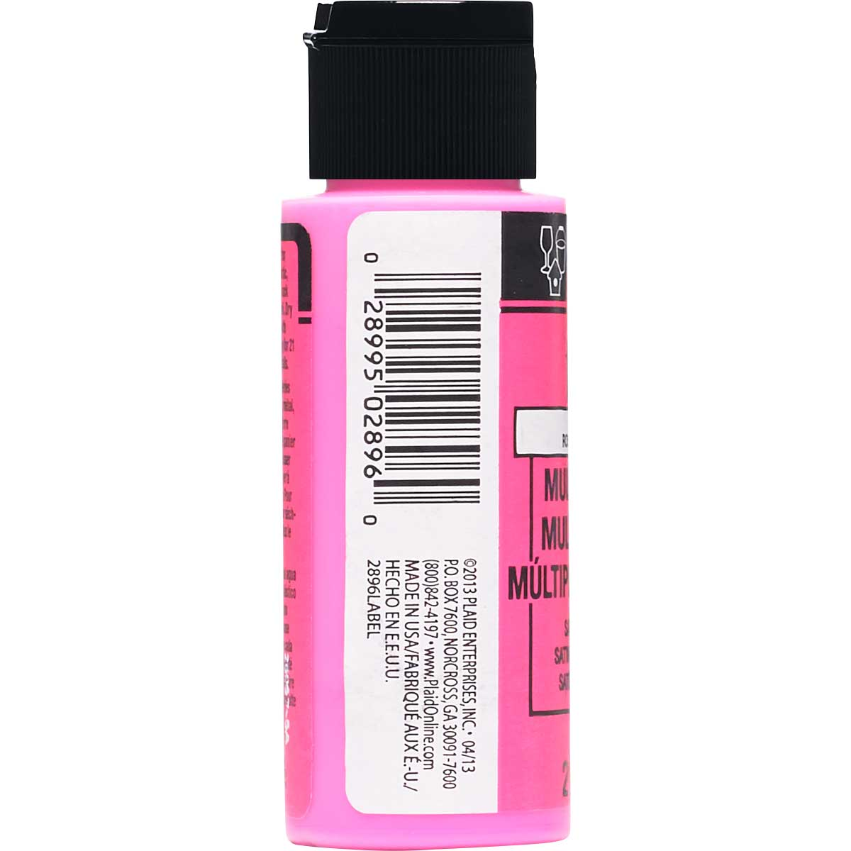 FolkArt ® Multi-Surface Satin Acrylic Paints - Bright Pink, 2 oz.