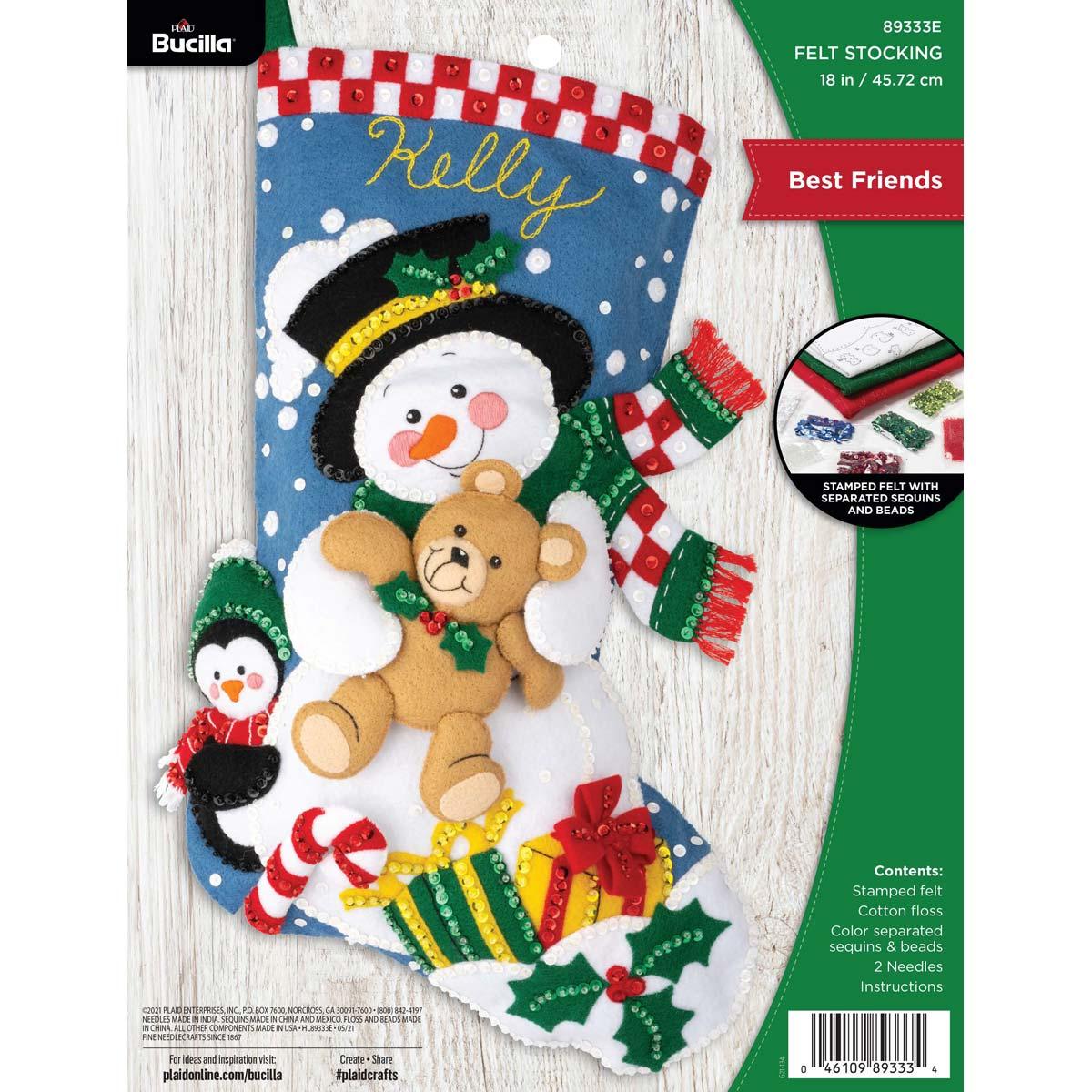 Bucilla ® Seasonal - Felt - Stocking Kits - Best Friends - 89333E