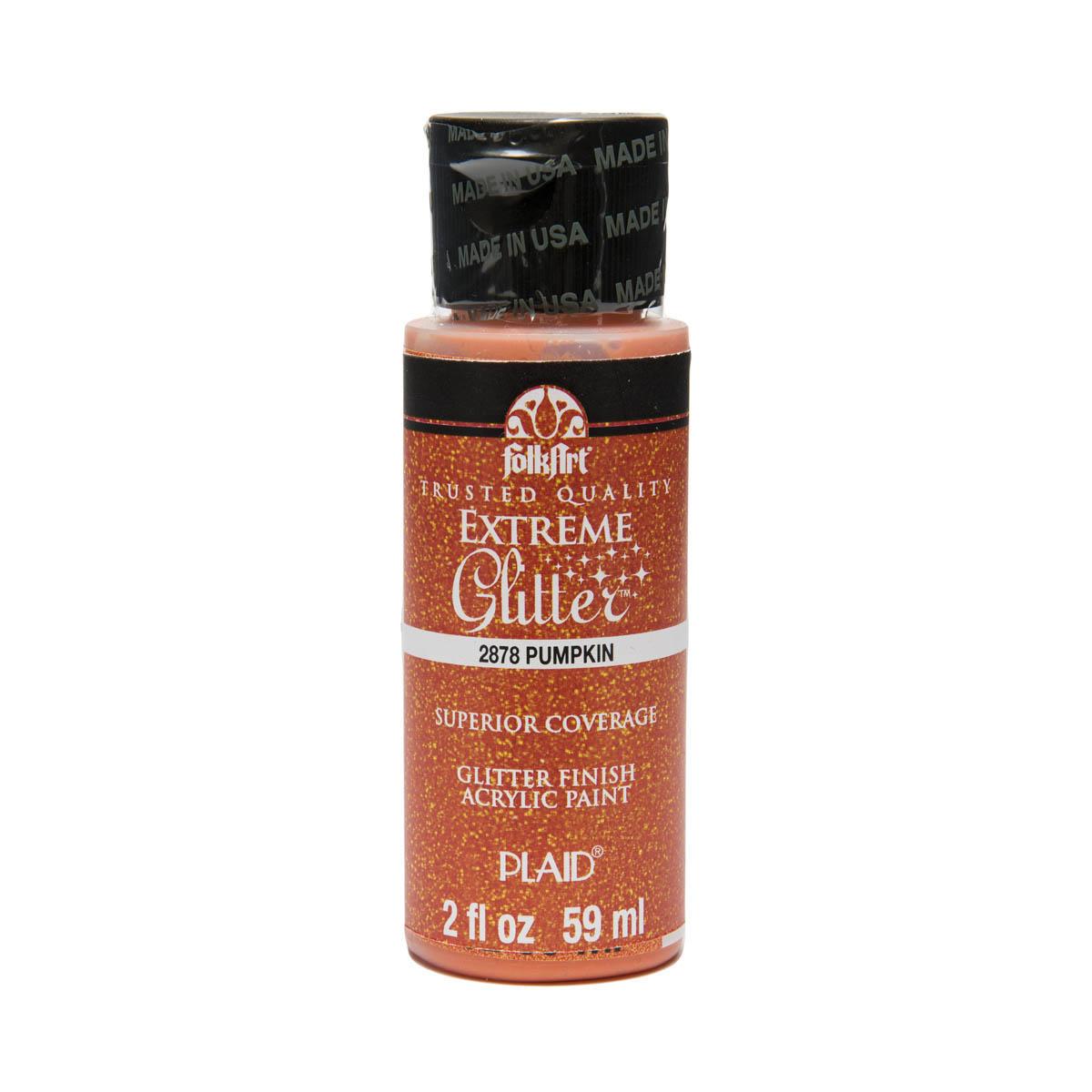 FolkArt ® Extreme Glitter™ - Pumpkin Orange, 2 oz. - 2878