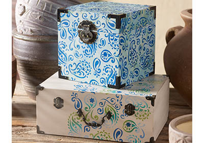Paisley Delight Storage Boxes