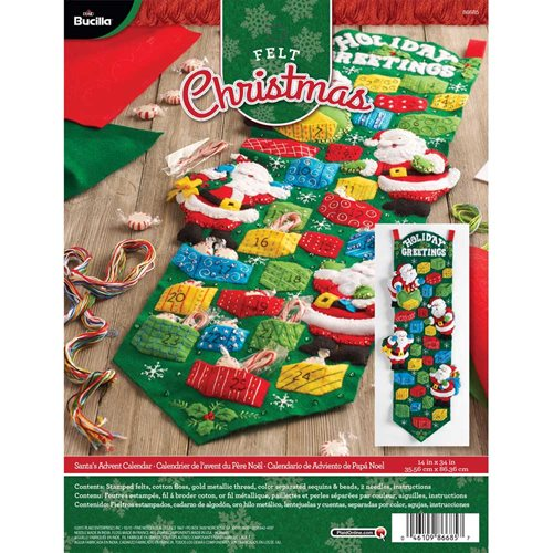 Bucilla ® Seasonal - Felt - Home Decor - Advent Calendar Kits - Santa's Advent Calendar