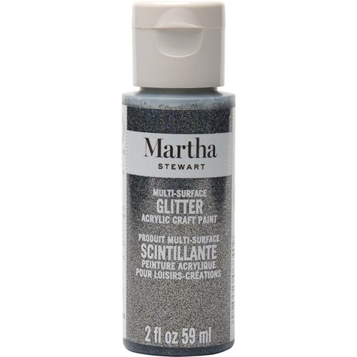 Martha Stewart ® Multi-Surface Glitter Acrylic Craft Paint - Onyz, 2 oz. - 32183CA