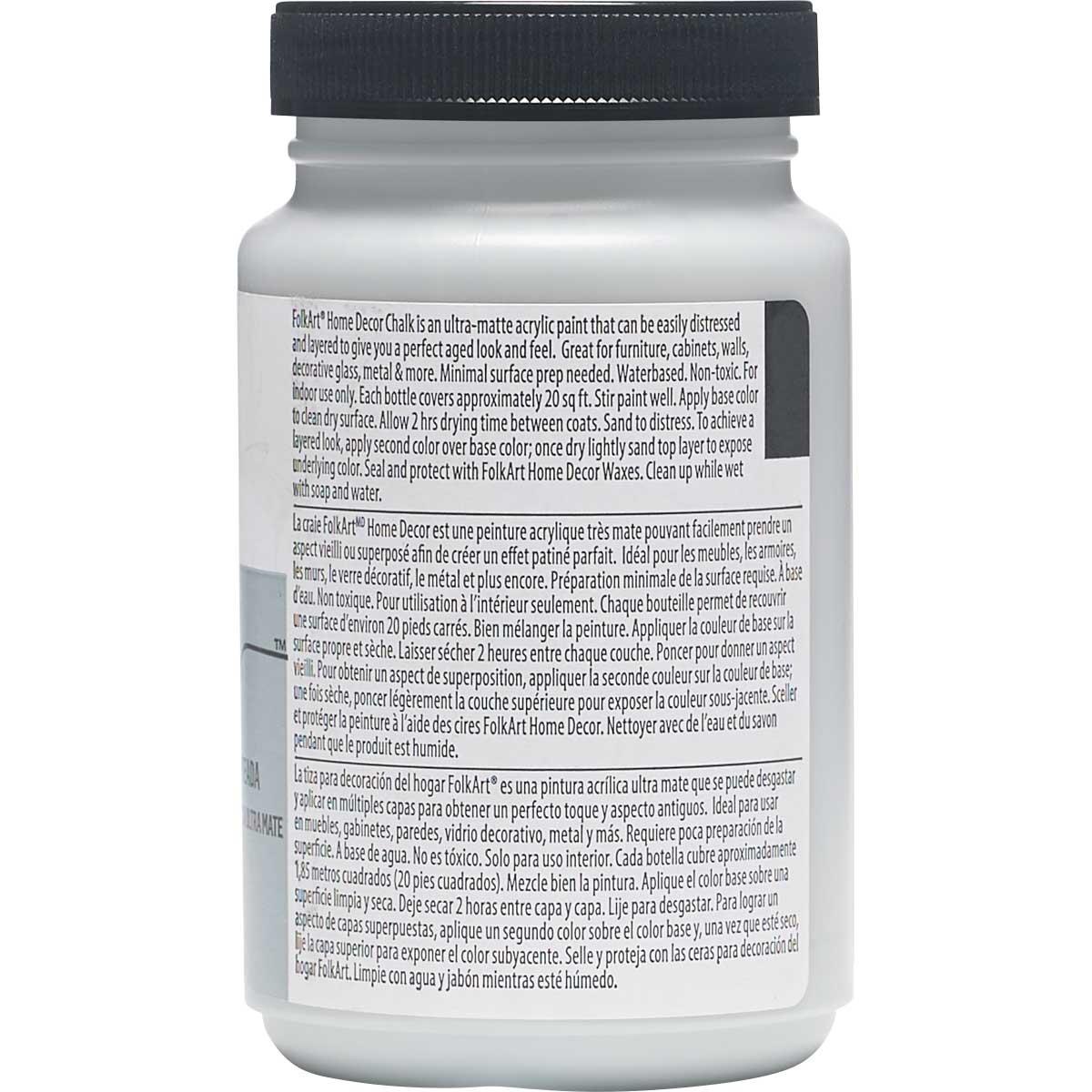 FolkArt ® Home Decor™  Chalk - Silver Shadow, 8 oz. - 34178
