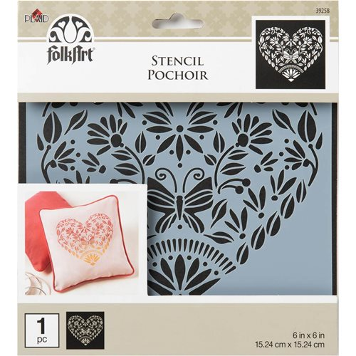 FolkArt ® Painting Stencils - Small - Folk Hearts - 39258