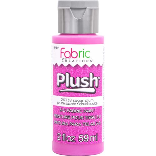 Fabric Creations™ Plush™ 3-D Fabric Paints - Sugar Plum, 2 oz.