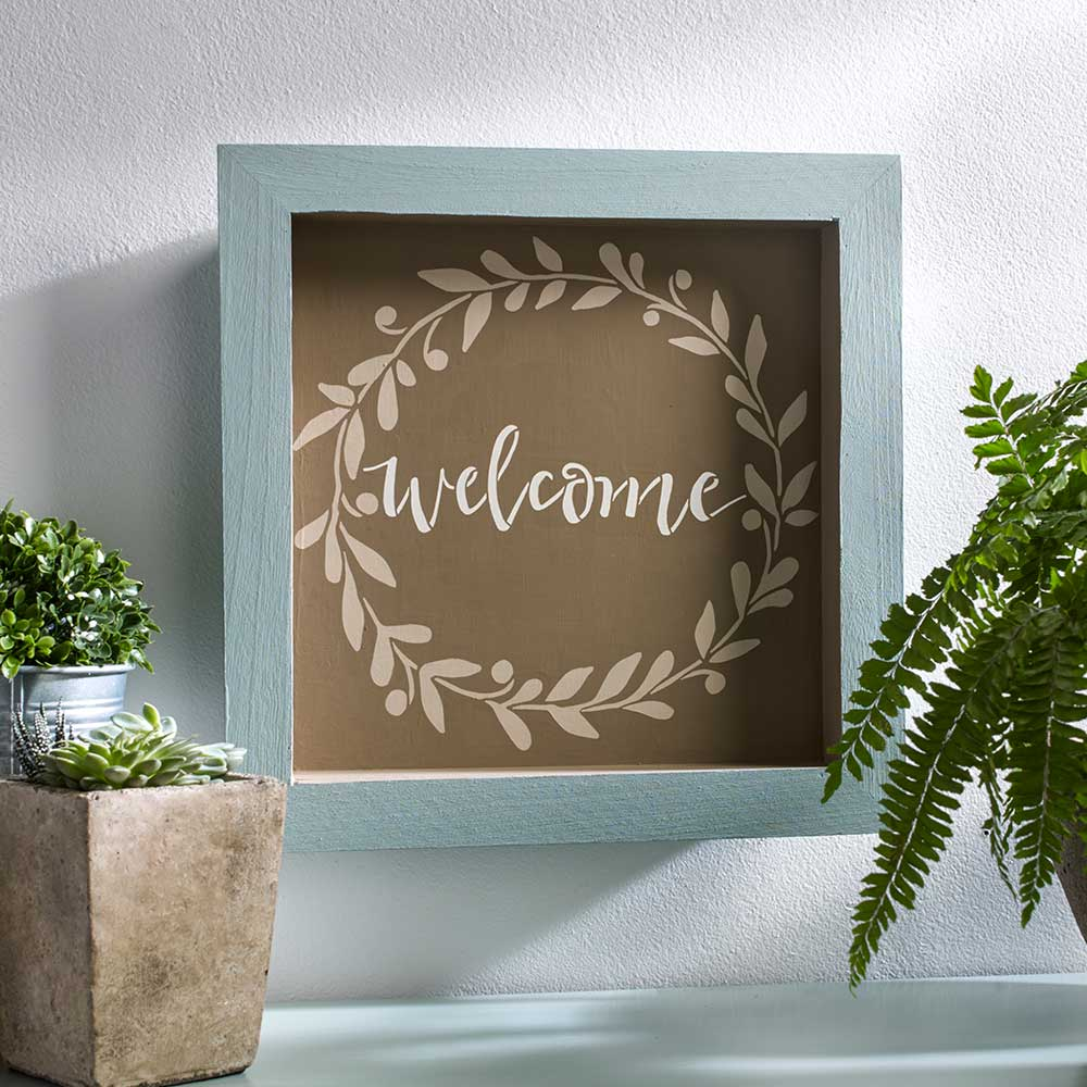 FolkArt ® Painting Stencils - Sign Making - Welcome Wreath