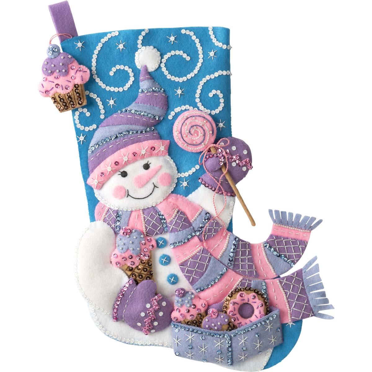 Bucilla ® Seasonal - Felt - Stocking Kits - Sweet Treats - 89239E