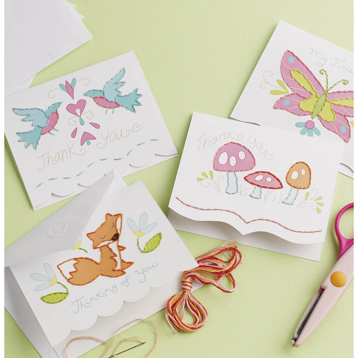 Bucilla ® Paper Stitching - Note Cards - Sweet Sentiments