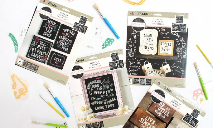 Make Your Own Chalkboard Art with Lily & Val Stencils