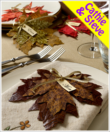 Fall Leaf Place Card Holders