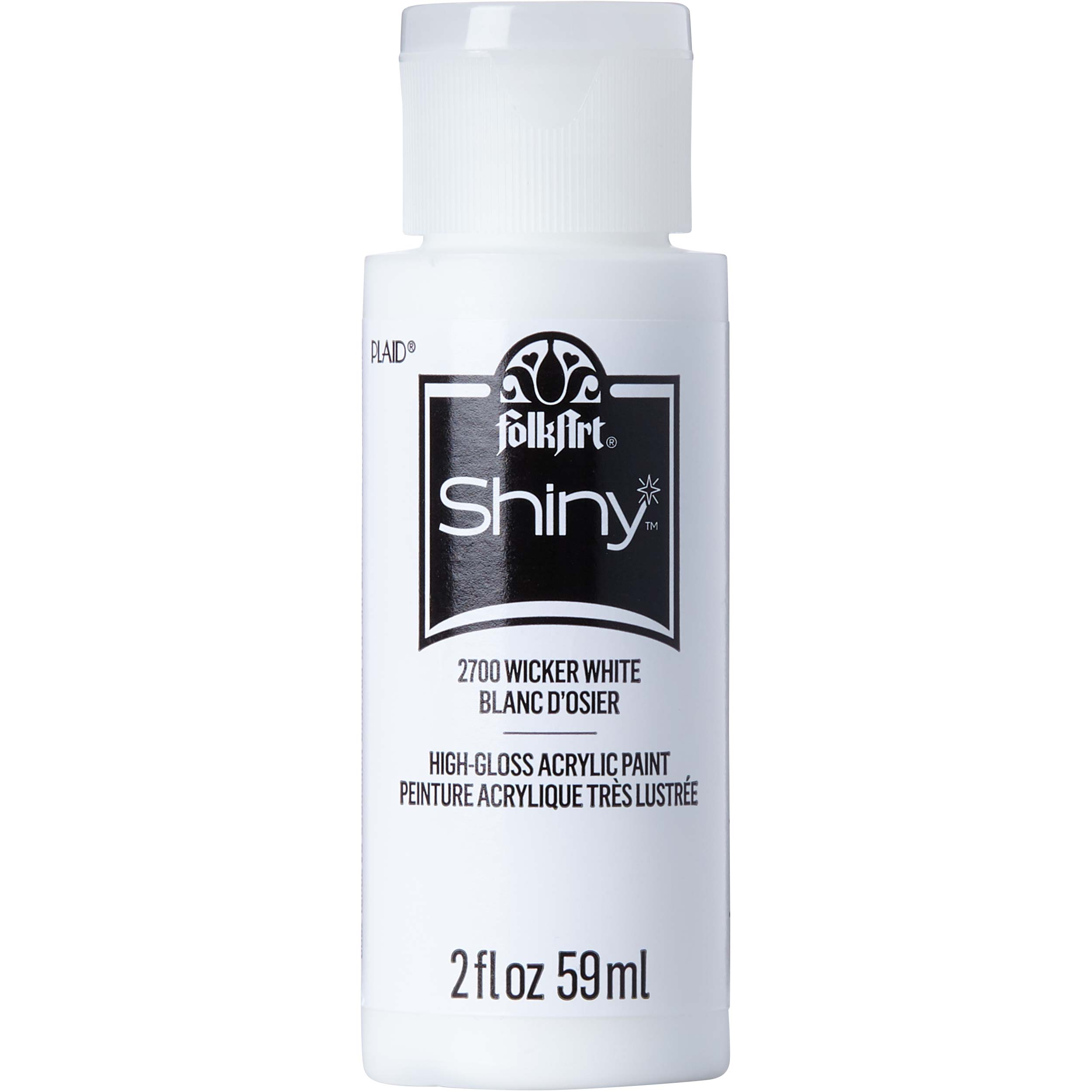 FolkArt ® Shiny™ Acrylic Paint - Wicker White, 2 oz.