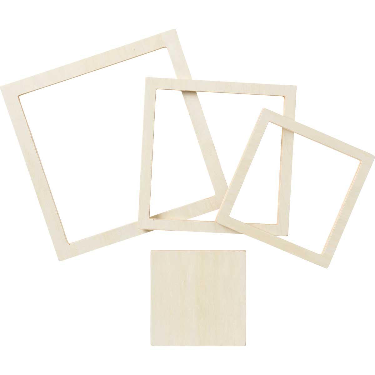 Plaid ® Wood Surfaces - Square Set, 4 piece