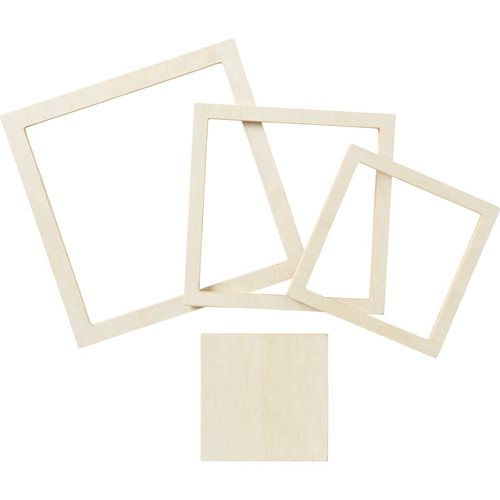 Plaid ® Wood Surfaces - Square Set, 4 piece - 22621E