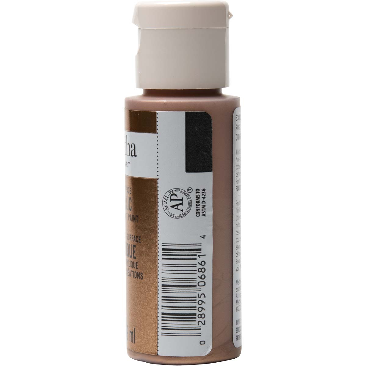 Martha Stewart ® Multi-Surface Metallic Acrylic Craft Paint - Rose Copper, 2 oz. - 33002CA