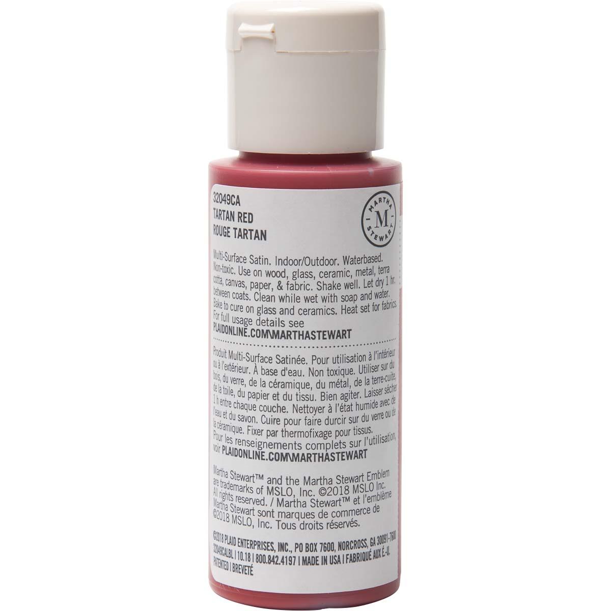 Martha Stewart® 2oz Multi-Surface Satin Acrylic Craft Paint - Tartan Red