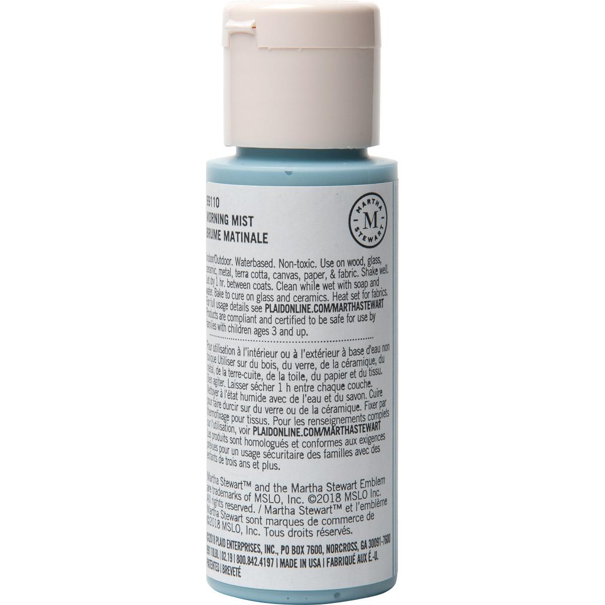 Martha Stewart ® Multi-Surface Satin Acrylic Craft Paint CPSIA - Morning Mist, 2 oz. - 99110