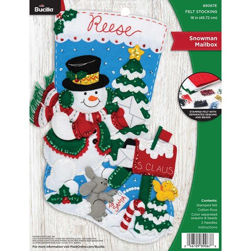 Bucilla ® Seasonal - Felt - Stocking Kits - Snowman Mailbox - 89067E
