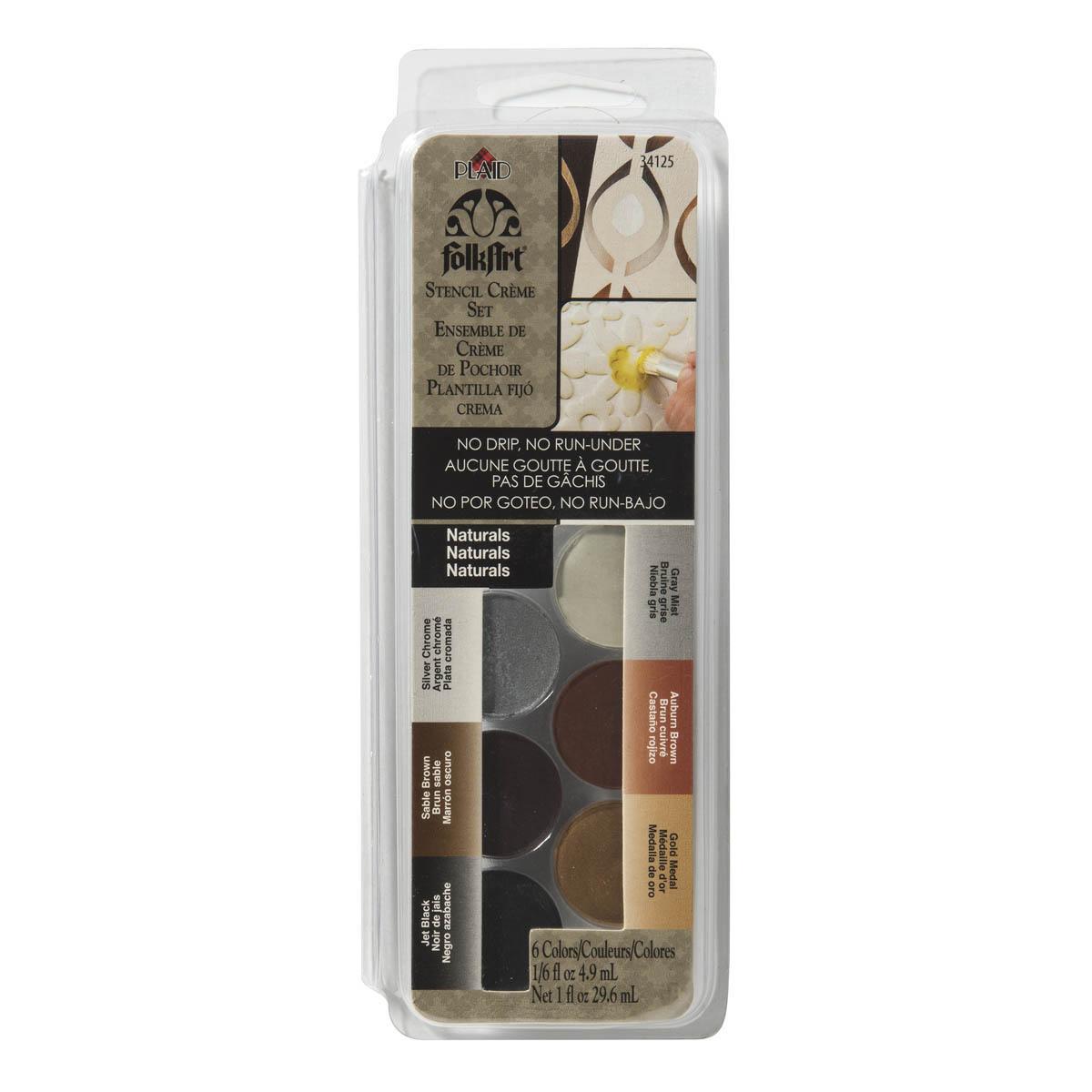 FolkArt ® Dry Brush Stencil Creme Set - Naturals - 34125
