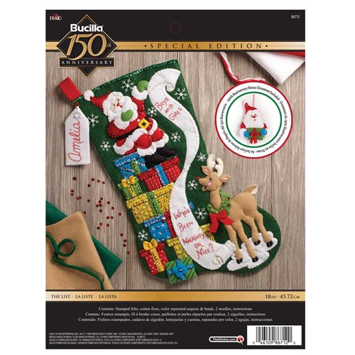 Bucilla ® Seasonal - Felt - Stocking Kits - The List - 86712