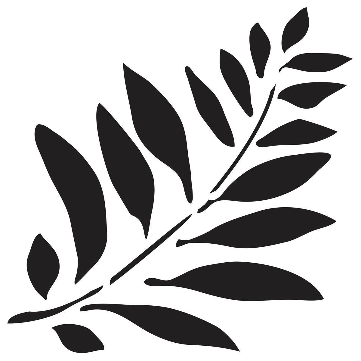 Waverly ® Inspirations Laser Stencils - Accent - Fern, 6