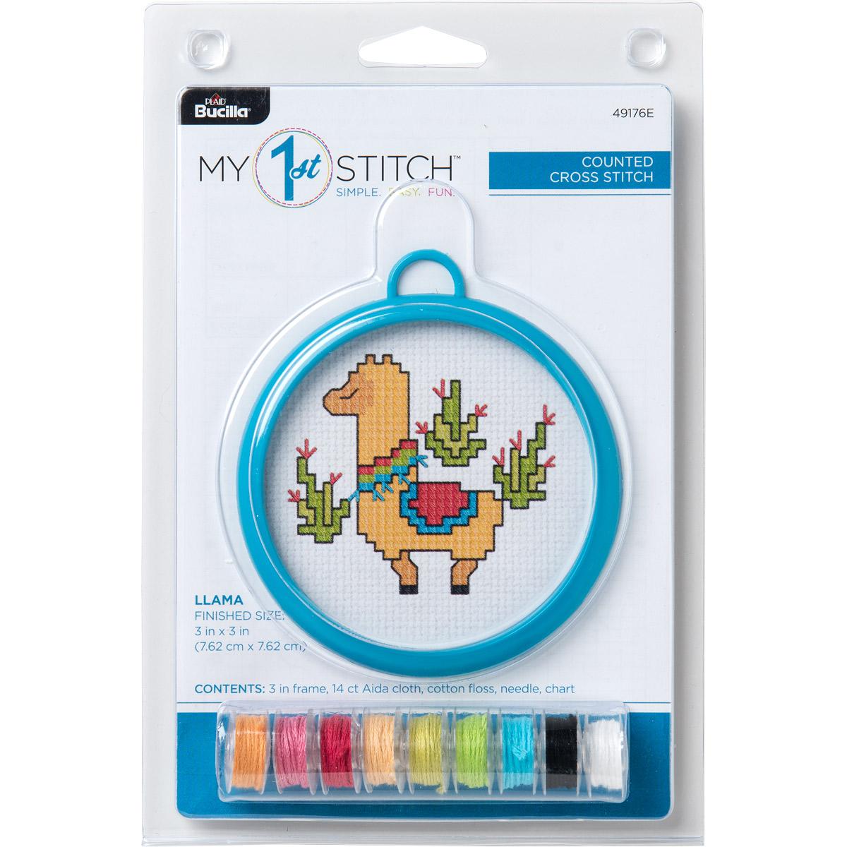 Bucilla ® My 1st Stitch™ - Counted Cross Stitch Kits - Mini - Llama