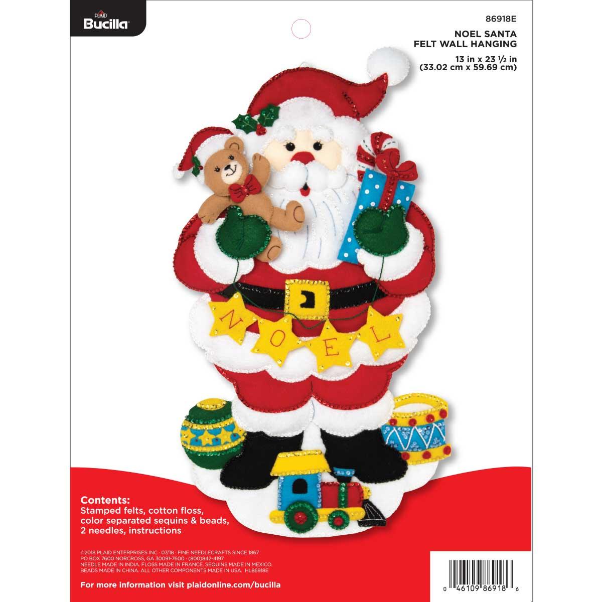 Bucilla ® Seasonal - Felt - Home Decor - Noel Santa Wall Hanging - 86918E