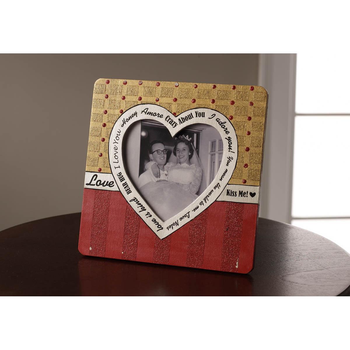 Plaid ® Wood Surfaces - Heart Frame