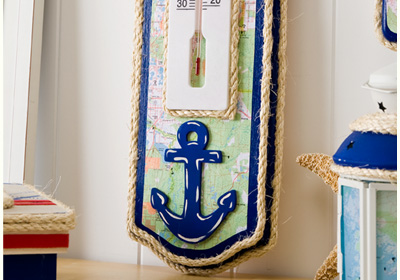 Nautical Thermometer Wall Plaque