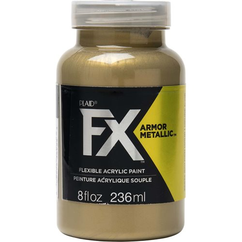 PlaidFX Armour Metal Flexible Acrylic Paint - Golden Hour, 8 oz. - 36935