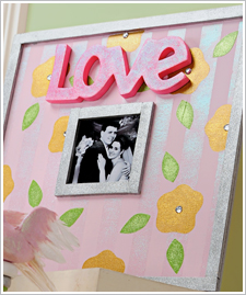 Floral Love Wedding Frame