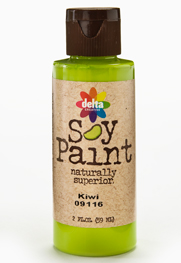 Delta Soy Paint - Red Apple, 2 oz.