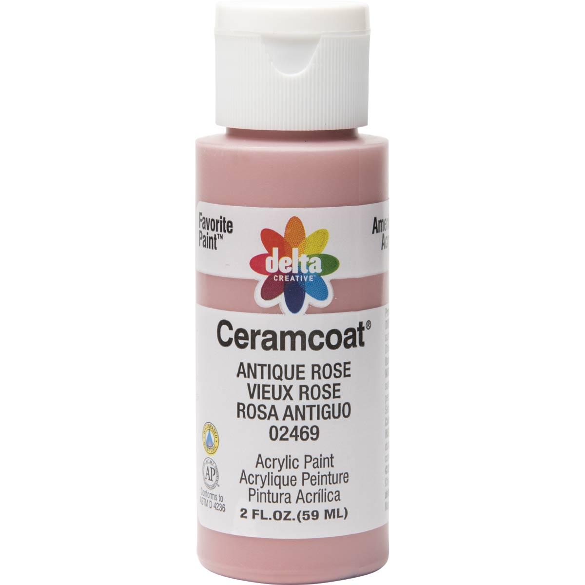 Delta Ceramcoat ® Acrylic Paint - Antique Rose, 2 oz. - 024690202W