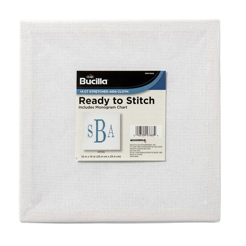 "Bucilla ® Ready to Stitch™ Blanks - Counted Cross Stitch - White, 10"" x 10"""