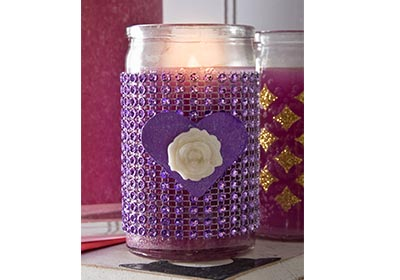 Glitzy Candle for Valentine's Day