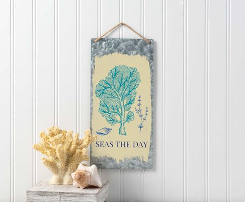 Seas the Day Tin Sign