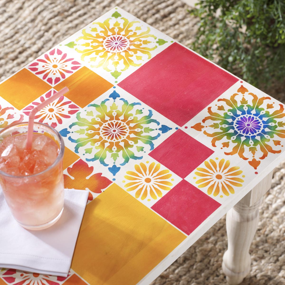 FolkArt ® Painting Stencils - Mod Flower Tile