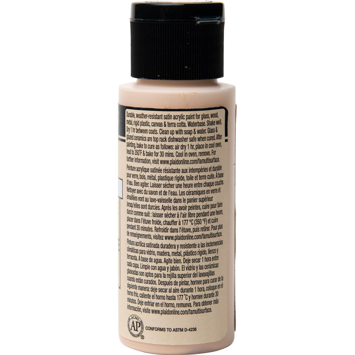FolkArt ® Multi-Surface Satin Acrylic Paints - Cool Bisque, 2 oz.