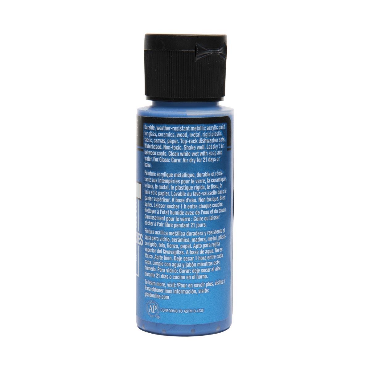 FolkArt ® Multi-Surface Metallic Acrylic Paints - Sapphire, 2 oz.