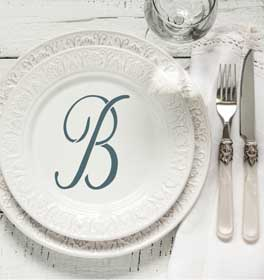 Script Monogram Decorative Dinner Plate