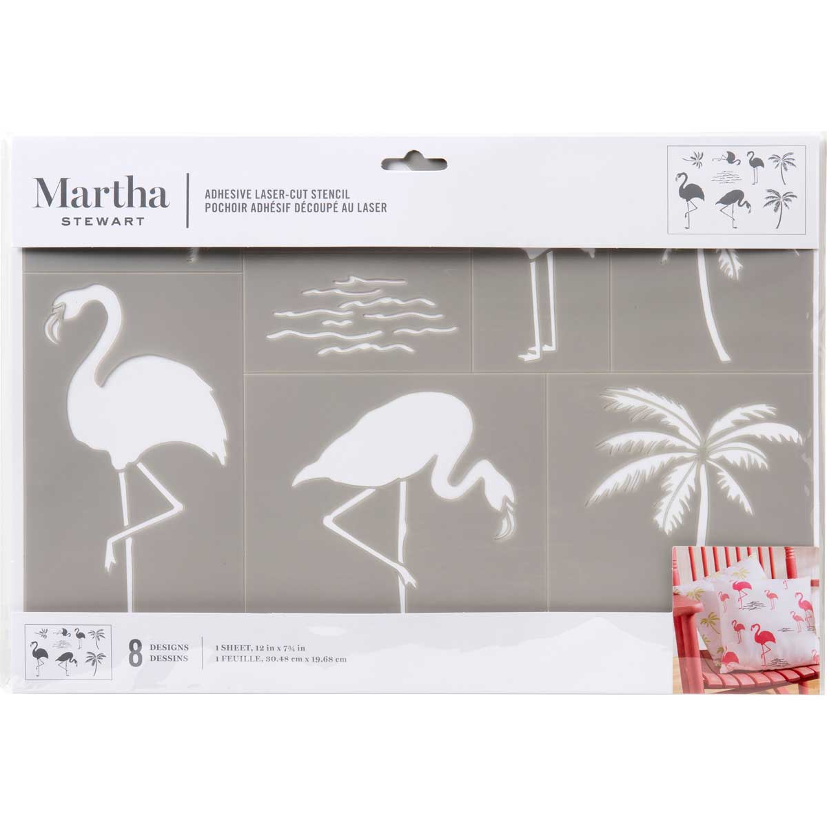 Martha Stewart ® Adhesive Stencil - Flamingo - 17638
