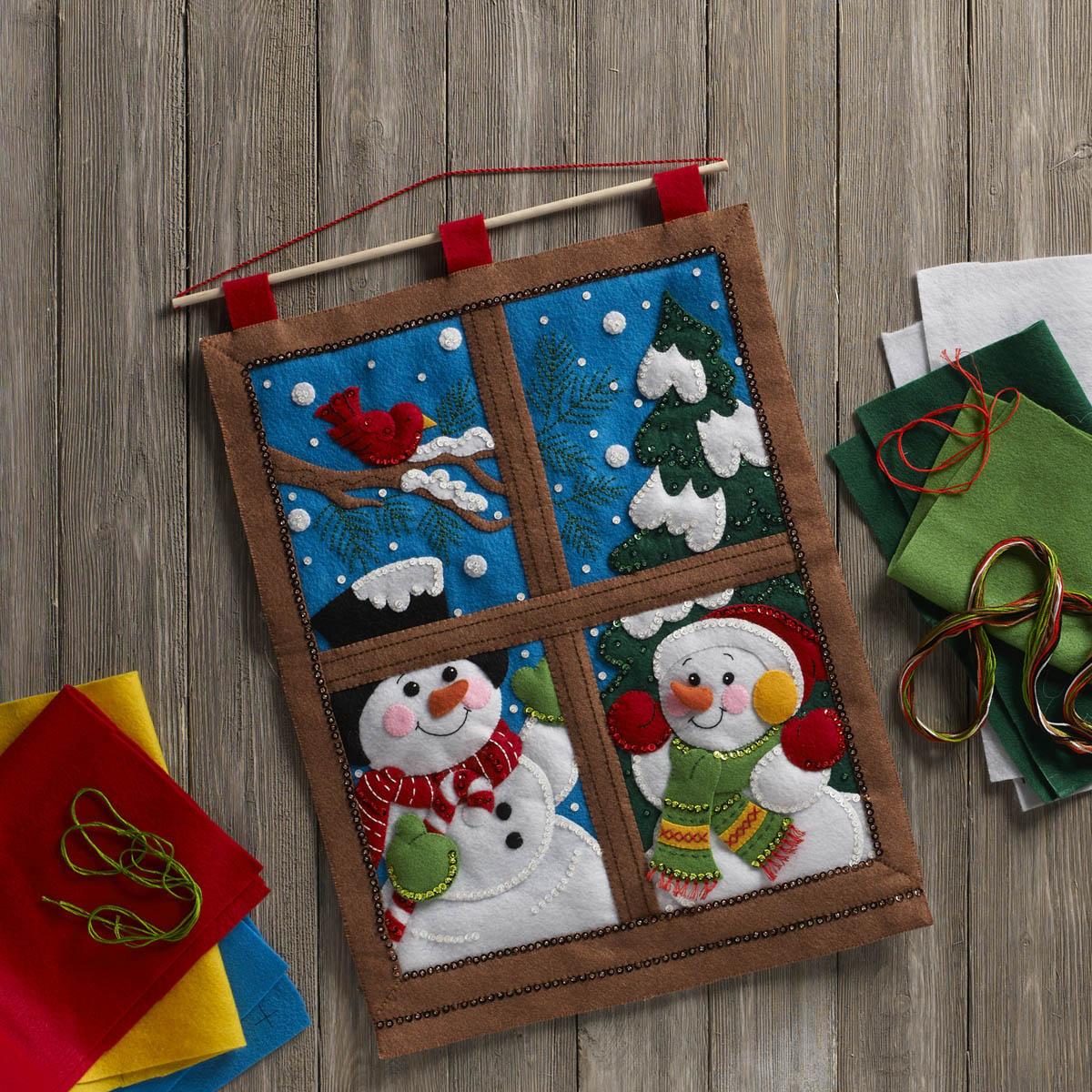 Bucilla ® Seasonal - Felt - Home Decor - Winter Window Wall Hanging - 86732